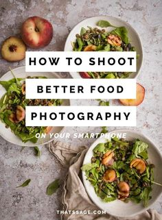 You don't need a lot of equipment for to learn food photography! Your smartphone can be used when getting started in food photography, and this post will teach you how to shoot better food photos on your smartphone! #learnfoodphotography #photographyequipment #takefoodphotos #creativefoodphotos