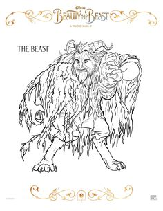 Get Your Printable Beauty And The Beast Coloring Pages Here All Favorite Characters From New