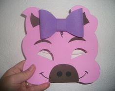 Máscara de Porco com laço