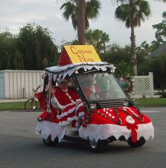christmas decorations for a golf cart best images about - Golf Cart Christmas Decorations