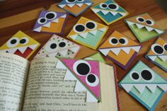 Corner Munching Bookmarks by corinacorinaa on Etsy, $3.50 These are SO cute!!