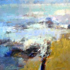 """Tony Saladino,  'La Mer'  Acrylic on canvas 48"""" x 48"""""""