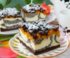 Sero-makowiec z brzoskwiniami Sweet Recipes, Cake Recipes, Dessert Recipes, Polish Desserts, Cheesecake, Homemade Cakes, Yummy Cakes, No Bake Cake, Amazing Cakes