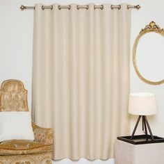 Symple Stuff Semi-Sheer Outdoor Roller Shade & Reviews | Wayfair Grommet Curtains, Blackout Curtains, Drapes Curtains, Decorative Curtain Rods, Blinde, Insulated Curtains, Decor Pillows, Curtains With Rings, Colorful Curtains