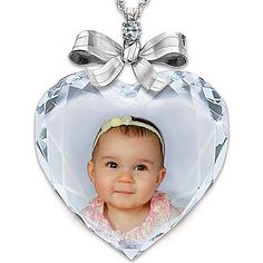 Personalized Photo Precious Jewel Diamond Pendant Necklace Jewelry