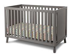 Delta Children Manhattan 3-in-1 Crib, Grey
