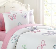 Victoria Butterfly Duvet Cover on potterybarnkids.com - very girly for abbers!