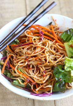 Spicy Korean Cold Noodles (Bibim Guksu)