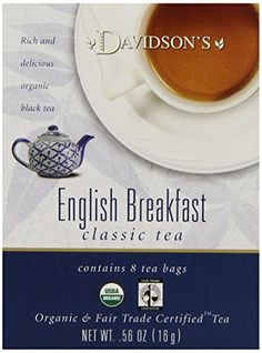 Davidsons Tea English Breakfast 8Count Tea Bags Pack of 12 ** Want to know more, click on the image. (This is an affiliate link and I receive a commission for the sales)
