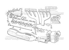 maserati 3500 gt intake manifold injection equipment page 043 order online eurospares