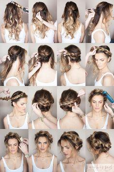 Crown Braid/Halo Braid  Braided Hair Tutorial // SKMU // Blog Tutorial // Hair Tutorial // Hair and Make Up Blog // Hair Inspiration