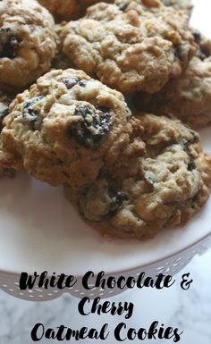 White Chocolate & Cherry Oatmeal Cookies
