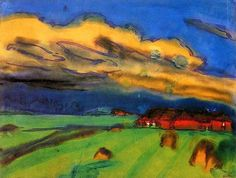 Emil Nolde (1867-1956)  Met zijn kleurgebruik en krachtige toets was hij een invloedrijke figuur in de groep. Zijn schilderstijl verandert echter ook onder invloed van de Brücke-kunstenaars. Door het toepassen van expressieve kleuren schildert hij eenvoudiger, vlakker en wordt er meer nadruk gelegd op de vorm. Kleuren worden tot zijn eigenlijke uitdrukkingsmiddel. De ongemengde kleuren werden dicht tegen elkaar aangezet, waardoor zij elkaars kracht versterkten.