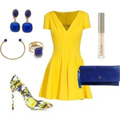 bright summer feeling...the pumps make the outfit!