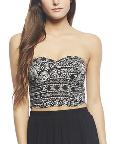 Aztec Crop Tube Top