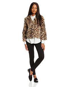 Anna Sui Women's Leopard Rabbit Fur J…