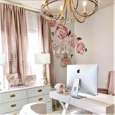 Cross-Base Desk – Polished Nickel – Chic Home Office Design Home Office Space, Home Office Design, Home Office Decor, Home Decor, Office Designs, Apartment Office, Office Table, Office Spaces, Small Office