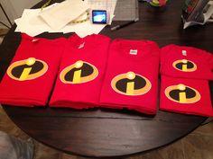 Incredibles shirt iron ons