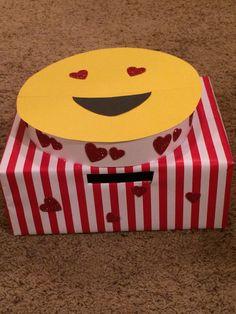 Super cute Heart eyes emoji Valentines Day box