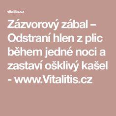 Zázvorový zábal – Odstraní hlen z plic během jedné noci a zastaví ošklivý kašel - www.Vitalitis.cz