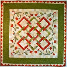 Making stems and vines and even lettering is easy if you use bias tape. It can add so much to a quilt to add a bit of simple applique, and ...
