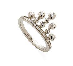 Anel de Ouro Nobre 18K com diamantes cognac - Coleção Jogo de Cartas - Modelo: A1B202413
