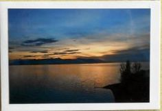 Fotopostkarte Sonnenuntergang am Bodensee