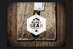 Black Bear Refresh by Jay DeLutis, via Behance by alexandria