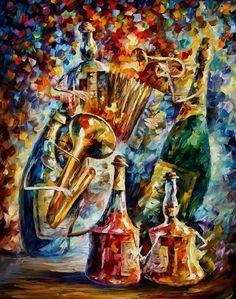 Afremov Art Leonid Oil Paintings | music_bottles___leonid_afremov_by_leonidafremov-d47lrn7