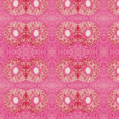 Pink flower shadow-owl2 fabric by miamaria on Spoonflower - custom fabric