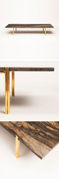 A fab low table from Christopher Allen with marble and brass @Stylebeat Marisa Marcantonio is into mixed materials