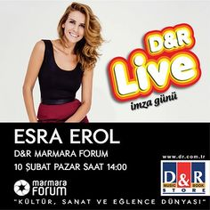 Esra Erol 10 Şubat 2013'te Marmara Forum'da