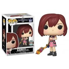 Funko Kairi with Keyblade #624, Specialty Series Exclusive, Kingdom Hearts, Disney, Games Disney Kingdom Hearts, Disney Games, Family Guy, Fictional Characters, Pop Figures, Fantasy Characters, Griffins