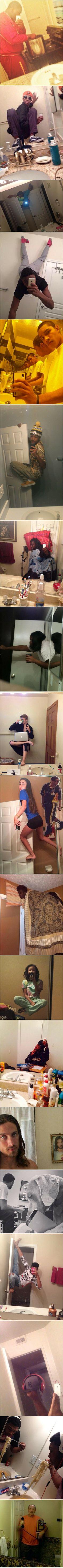 Here are some extreme bathroom selfies that make absolutely no sense. @Emma Zangs Zangs Zangs Z