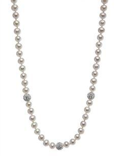 Nishi Pearls pearl and crystal bead strand