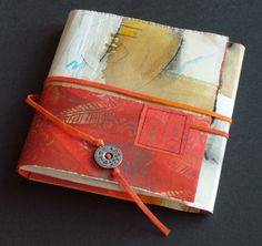 Artist book by Kirsten Horel Handmade Journals, Handmade Books, Fabric Journals, Art Journals, Accordion Book, Altered Book Art, Book Sculpture, Paper Book, Collage