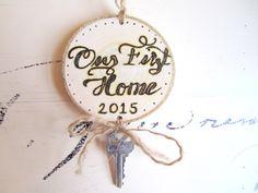 New home ornament Skeleton Key ornament First Christmas