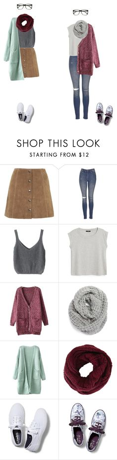 """""""Geek chic"""" by toty1008 ❤ liked on Polyvore featuring Topshop, MANGO, Chicnova Fashion, Halogen, BCBGMAXAZRIA, Keds and ZeroUV"""