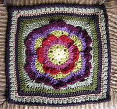 "Love Never Ends. 12"" crochet square pattern Free on Ravelry."