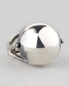 Rolling Silver Sphere Ring by Bottega Veneta at Bergdorf Goodman.