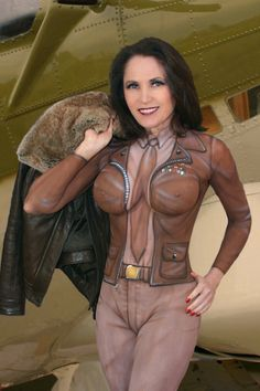 sweet old-school aviator body paint by Jessie Melero