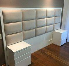 26 ideas decor diy minimalist bed frames for 2019 Bed Frame Design, Bedroom Bed Design, Bedroom Furniture Design, Home Room Design, Bed Furniture, Home Bedroom, Modern Bedroom, Bedroom Decor, Bedroom Apartment