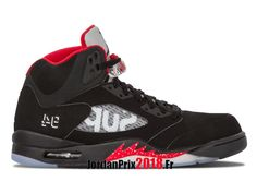 872446f025fd7b Chaussure Basket Jordan Prix Pour Homme Air Jordan 5 Retro Supreme Supreme  824371 001