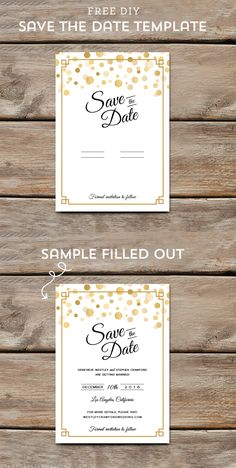 Make That Important Announcement With A Diy Save The Date  Diy