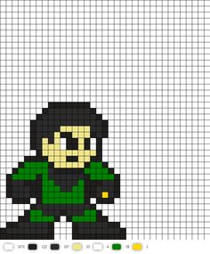 Chemical King From legion of superheroes DC Perler Bead Pattern