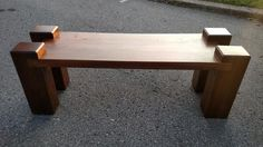 Benches of all shapes sizes and styles for indoor or outdoor. Any wood or paint you would like. Cube Furniture, Diy Furniture Projects, Woodworking Projects Diy, Wood Furniture, Wood Projects, Outdoor Furniture, Outdoor Decor, Wood Benches, Chainsaw Carvings