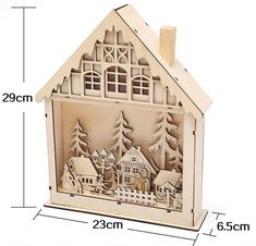 Table Decor Wood House Christmas Ornaments For Home Cute Luminous Cabins Gift Creative Christmas Decorations new Year decoration Christmas Tree And Santa, Christmas Crafts, Christmas Decorations, Christmas Ornaments, Elegant Christmas Decor, Holiday Decor, Small Wooden House, Scandinavian Style, Colorful Decor