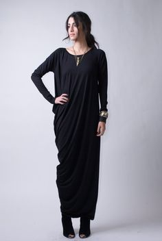 Hey, I found this really awesome Etsy listing at https://www.etsy.com/listing/171285127/black-dress-casual-dress-long-sleeve
