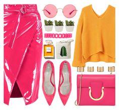 """Wrap Skirt"" by jiabao-krohn ❤ liked on Polyvore featuring Chanel, MANGO, Ray-Ban, Jigsaw, Salvatore Ferragamo, Forever 21, Maison Margiela, Retrò, contestentry and wrapskirt"