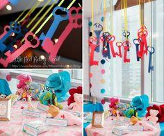 Alice in Wonderland Tea Party memorabilia table
